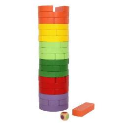 Nr.: 6097 Farbenturm Wackelturm rund und bunt - 6097 Holzladen24.de