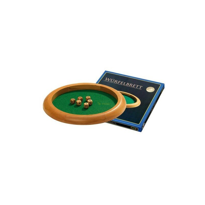 Nr.: 3131 Großes Würfelbrett mit Buchenholzrand - 3131 von Philos Spiele