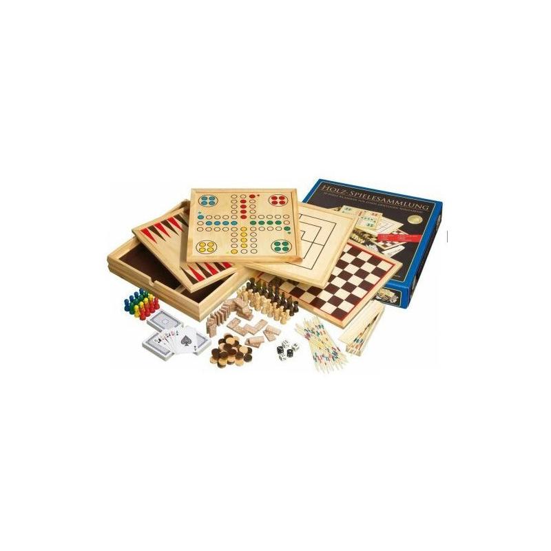 Nr.: 9960 Große Holz-Spielesammlung 10 - 9960 Philos Spiele