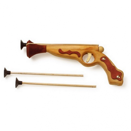 Nr.: 3618 Holzpistole mit Beschlägen aus Holz - Holzladen24.de