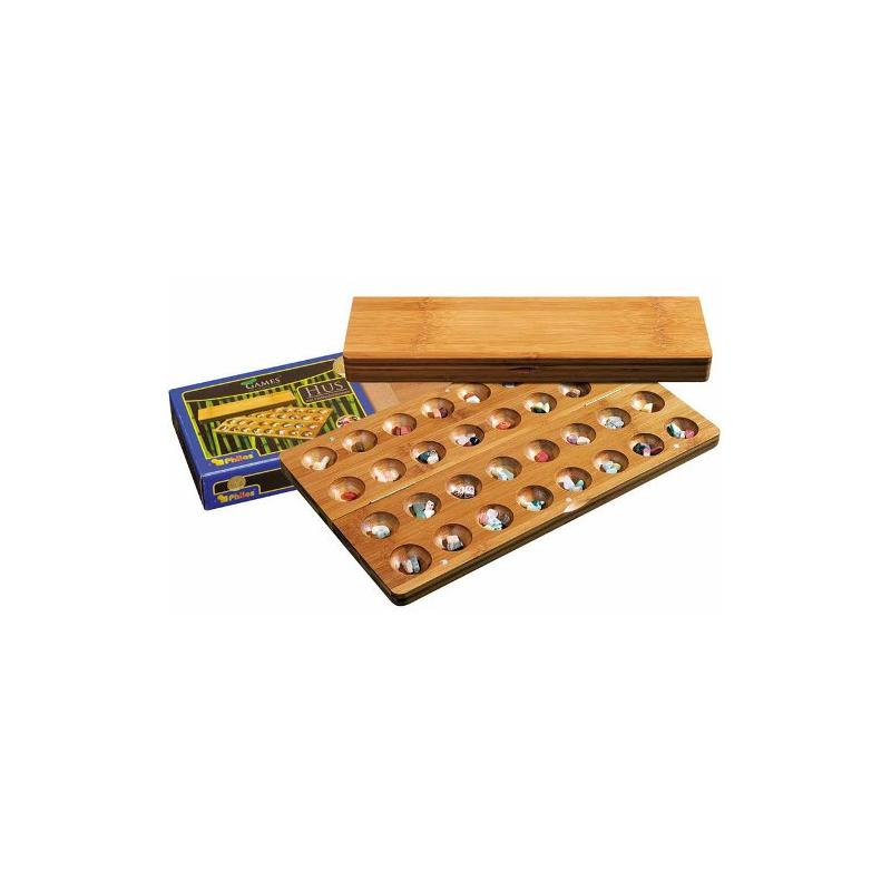 Nr.: 3256 Kalaha-Variante aus Bambus - 3256 Philos Spiele