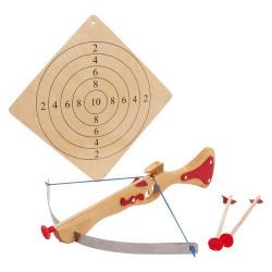 Nr.: 5035 Sportarmbrust und Zielscheibe aus Holz - Holzladen24.de