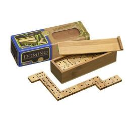 Nr.: 3265 Domino, Doppel 6, aus Bambus - 3265 Philos Spiele