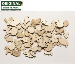 Nr.: 10149 Bastelteile Streuartikel Tiersortiment - Drechslerei Kuhnert