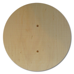 Vorderseite 4827 Rundes Holzschild - Holzladen24.de 4827