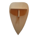 Rückseite 2120 Holzschild Tropfenform - Holzladen24.de 2120