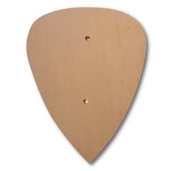 Vorderseite 4840 Kleiner Holzschild Tropfenform Holzladen24.de 4840