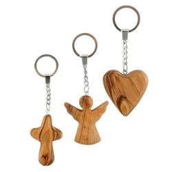 54122x Herz, Kreuz, Schutzengel aus Olivenholz Holzladen24.de 54122x