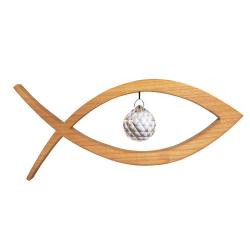 Nr.: 50283 Christlicher Fisch mit Swarovski Kristall Sternengasse