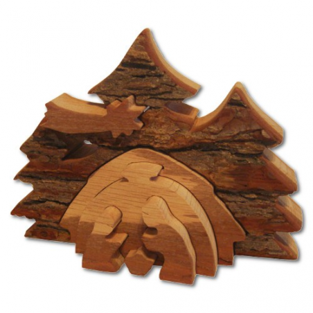 Nr.: 4984 Eine rustikale Krippe Eichenholz- Holzladen24.de