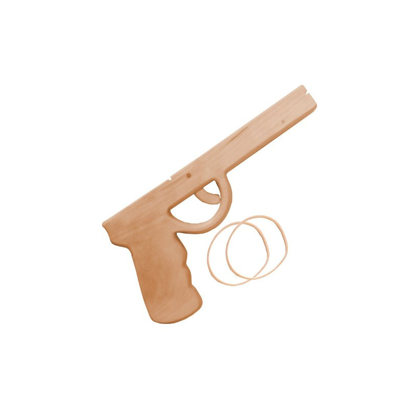 Artikel: 2126 Pistole aus Holz mit Gummi - Holzladen24.de