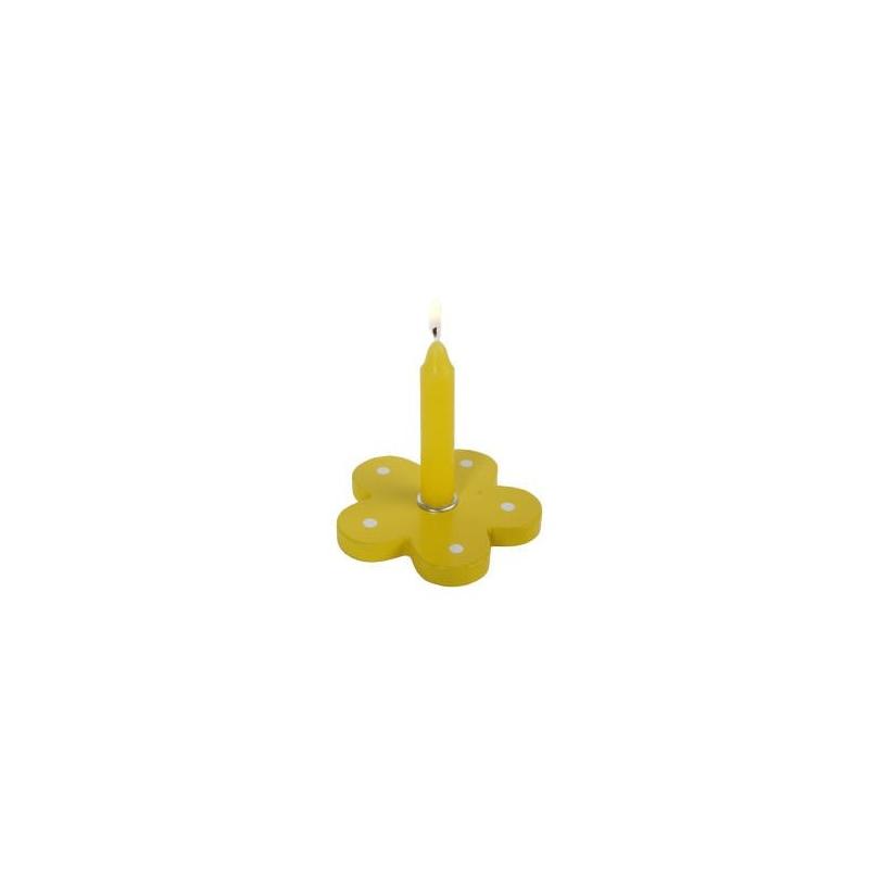 Nr.: 449544 Ein bunter Kerzenhalter im Blumendesign - Holzladen24.de 449544