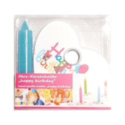 Nr.: 449545 Ein Kerzenhalter als Geburtstagsherz blau - Holzladen24.de 449545