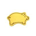 Nr.: 12250 Motivbrettchen - Tierformbrettchen - Schweinchen - Holzladen24.de