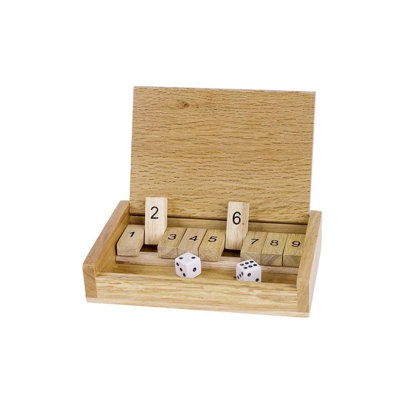 Nr: HS185 Kleines Reise Shut The Box  - Holzladen24.de HS185