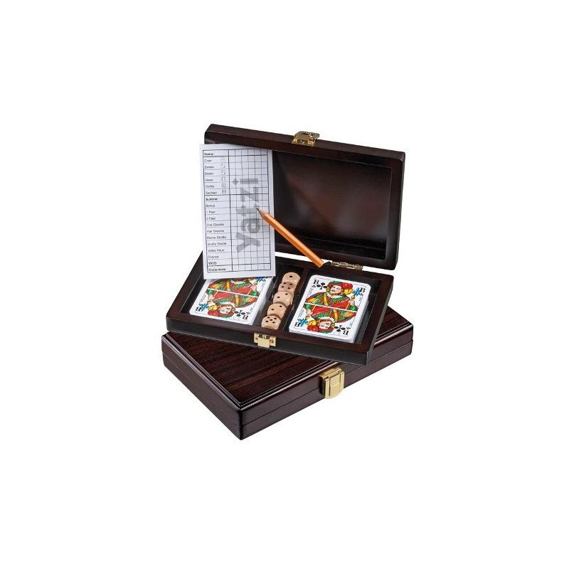 Nr.: 6657 Rommé-, Bridge-Karten mit Yatzi im Set - 6657 Philos Spiele