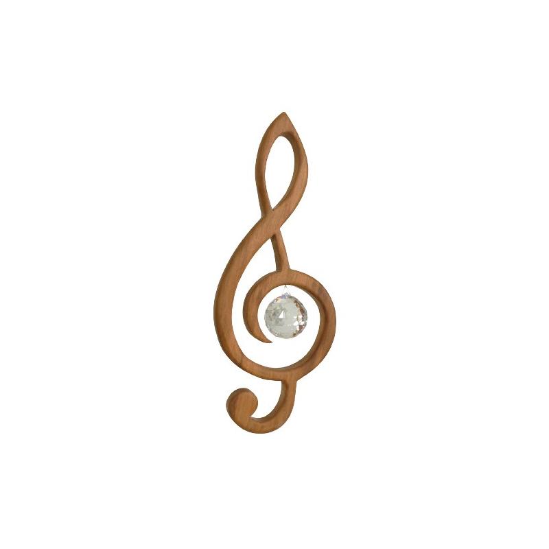 Nr.: 50282 Violinschlüssel mit Swarovski® Kristall -Sternengasse 50282