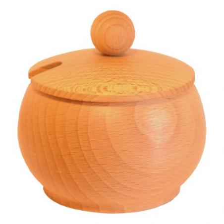 Nr.: 126 Kleine Zuckerdose aus Holz mit Deckel - Holzladen24 126