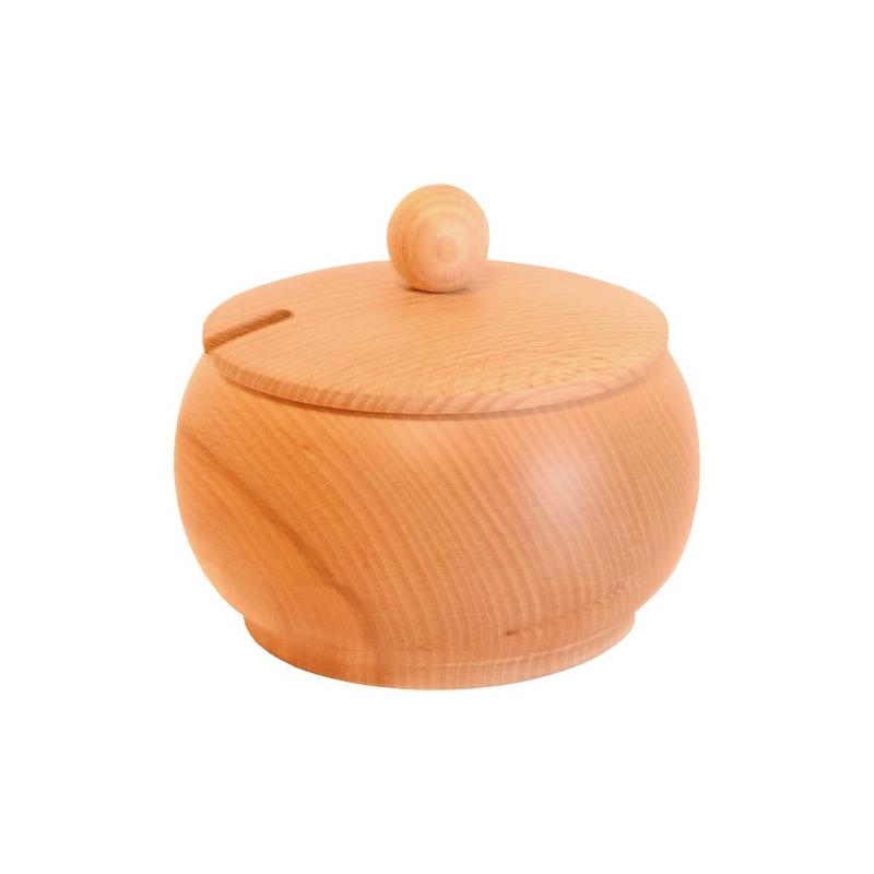 Nr.: 126A Mittlere Zuckerdose aus Holz mit Deckel - Holzladen24 126A