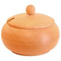 Nr.: 126B Große Zuckerdose aus Holz mit Deckel - Holzladen24 126B