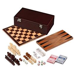 Nr.: 3097 Holz-Spielesammlung 6 in der Box - Philos Spiele 3097