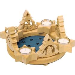 Nr.: 3635 Adventskranz mit Sternen - Holzladen24.de 3635