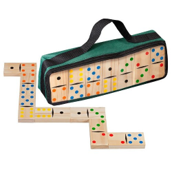 Nr.: 3617 Großes Domino aus kiefernholz, Doppel 6 Philos Spiele 3617