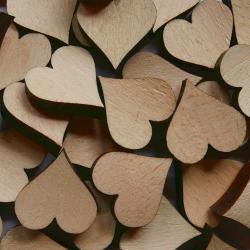 Nr.: 00HERZ 50 Herzen aus Buchenholz - Holzladen24.de 00HERZ