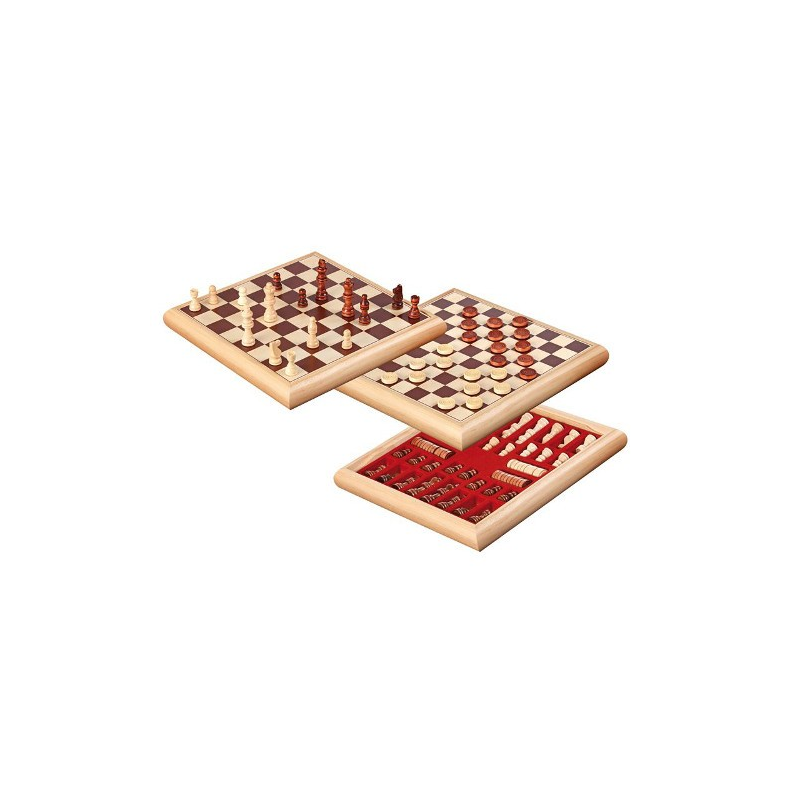 Nr.: 2803 Schach-Dame-Set in Holzbox - 2803 Philos Spiele