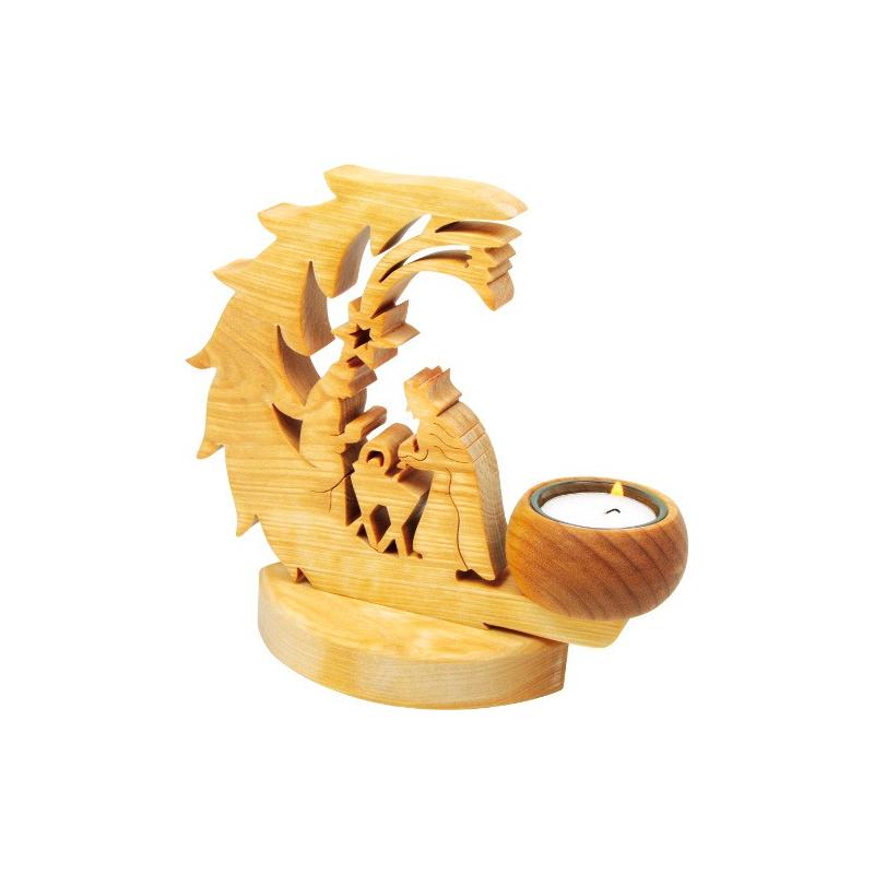 Nr.: 5057 Krippen Teelichthalter - L-5057 Holzladen24.de