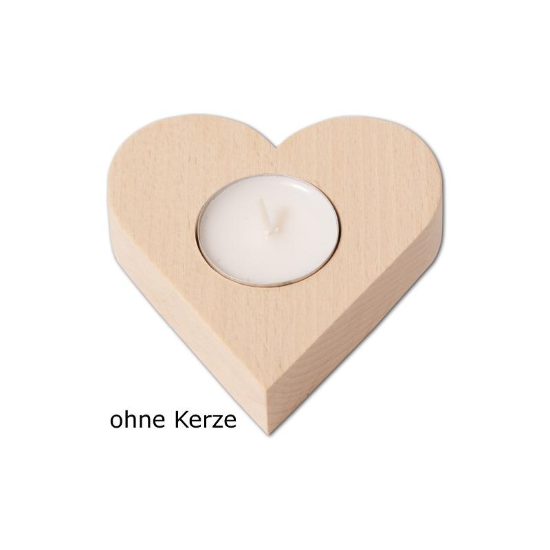Nr.: 40016 Teelichthalter Herz - 40016 Holzladen24.de