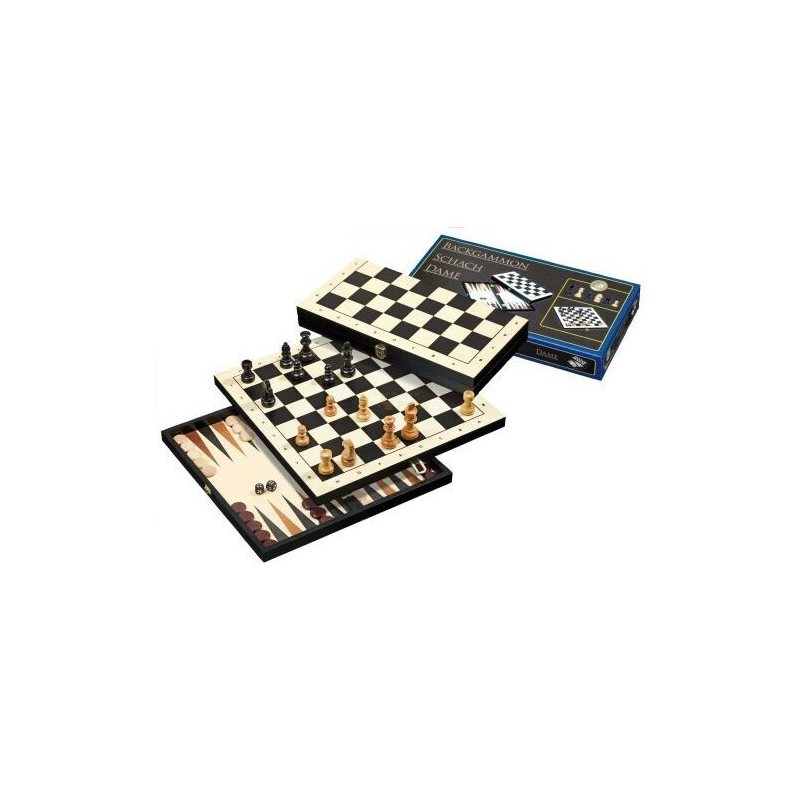 Nr.: 2511 Schach, Dame und Backgammon, Feld 30 mm - 2511 Philos Spiele