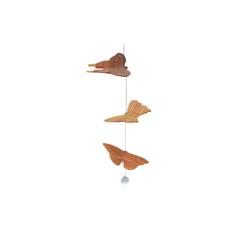 Nr.: 52011 Mobile drei Schmetterlinge mit Kristallperle - 52011 Sternengasse