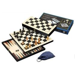 Nr.: 2514 Schach, Dame und Backgammon Feld 44 mm - 2514 Philos Spiele