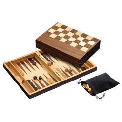 Nr.: 2508 Schach, Dame und Backgammon, Feld 32 mm - 2508 Philos Spiele