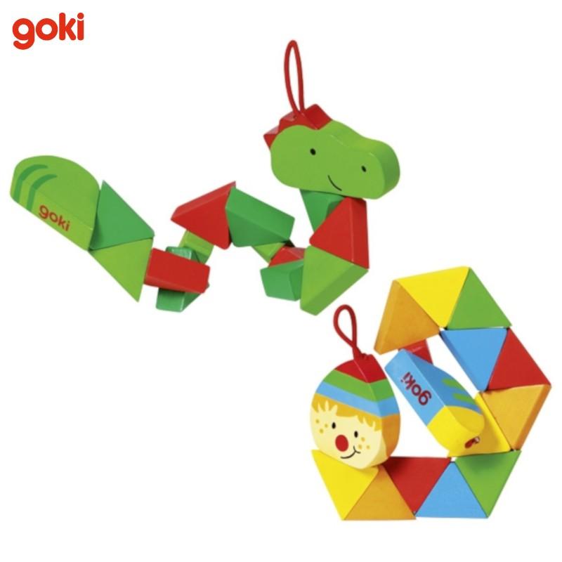 Nr.: 57563 Taschenpuzzle Krokodil und Clown - 57563 GoKi