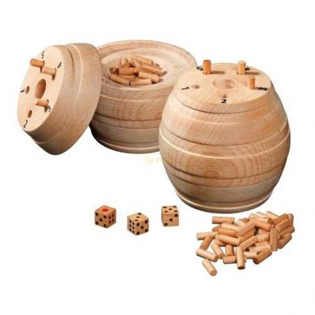 Nr.: 6335 Würfelfass aus Holz - 6335 von Philos Spiele