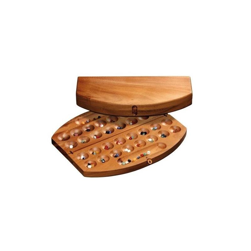 Nr.: 6304 Kalaha-Variante aus Holz - 6304 Philos Spiele