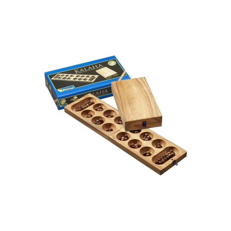 Nr.: 6303 Klapp-Kalaha-Variante aus Holz - 6303 Philos Spiele