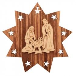 Nr.: 02 Heilige Familie im Stern - 02 Holzladen24.de