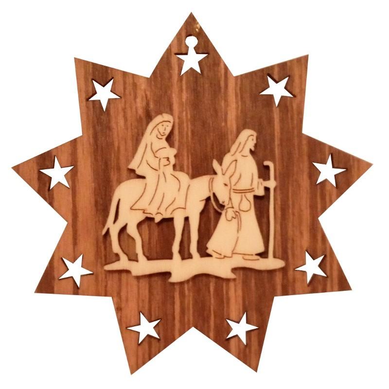 Nr.: 07 Wandernde Heilige Familie im Stern - 07 Holzladen24.de
