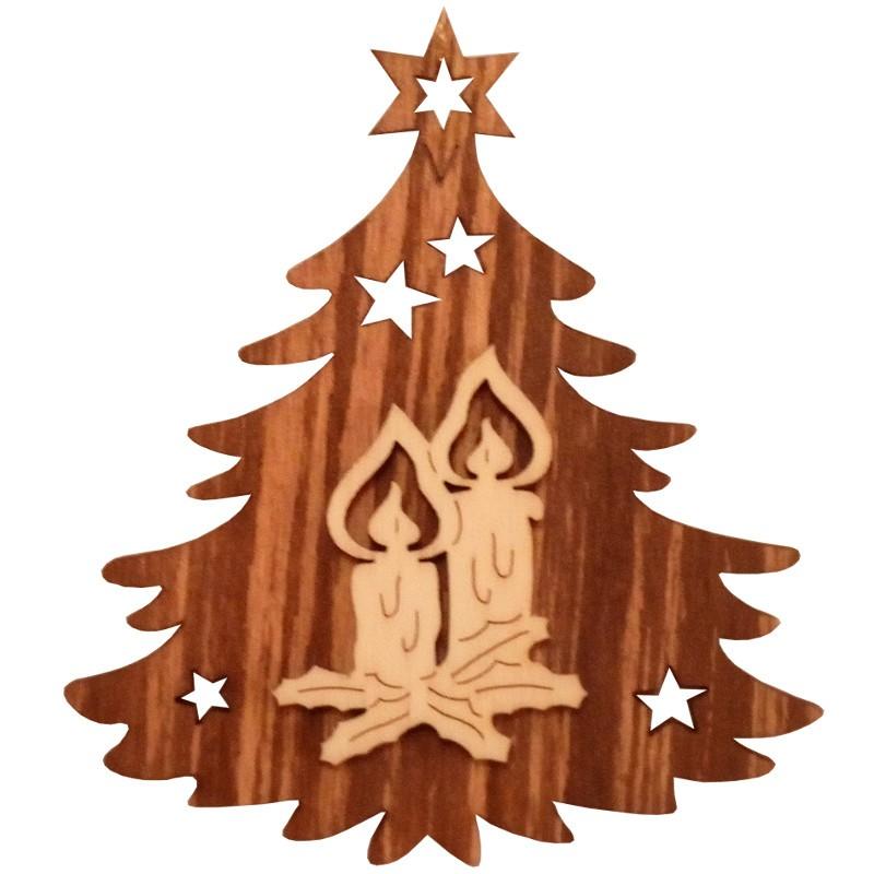 Nr.: 04TANNE Kerzen in Weihnachtsbaum - 04TANNE Holzladen24.de