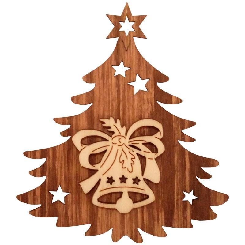 Nr.: 06TANNE Glocke in Weihnachtsbaum - 06TANNE Holzladen24.de