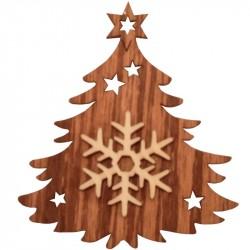 Nr.: 07TANNE Schneeflocke in Weihnachtsbaum - 07TANNE Holzladen24.de