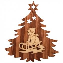 Nr.: 03TANNE Kind auf Schlitten in Weihnachtsbaum - 03TANNE Holzladen24.de