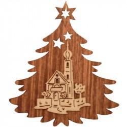 Nr.: 08TANNE Kirche in Weihnachtsbaum - 08TANNE Holzladen24.de