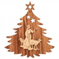 Nr.: 12TANNE Hirte und Schaf in Weihnachtsbaum - 12TANNE Holzladen24.de