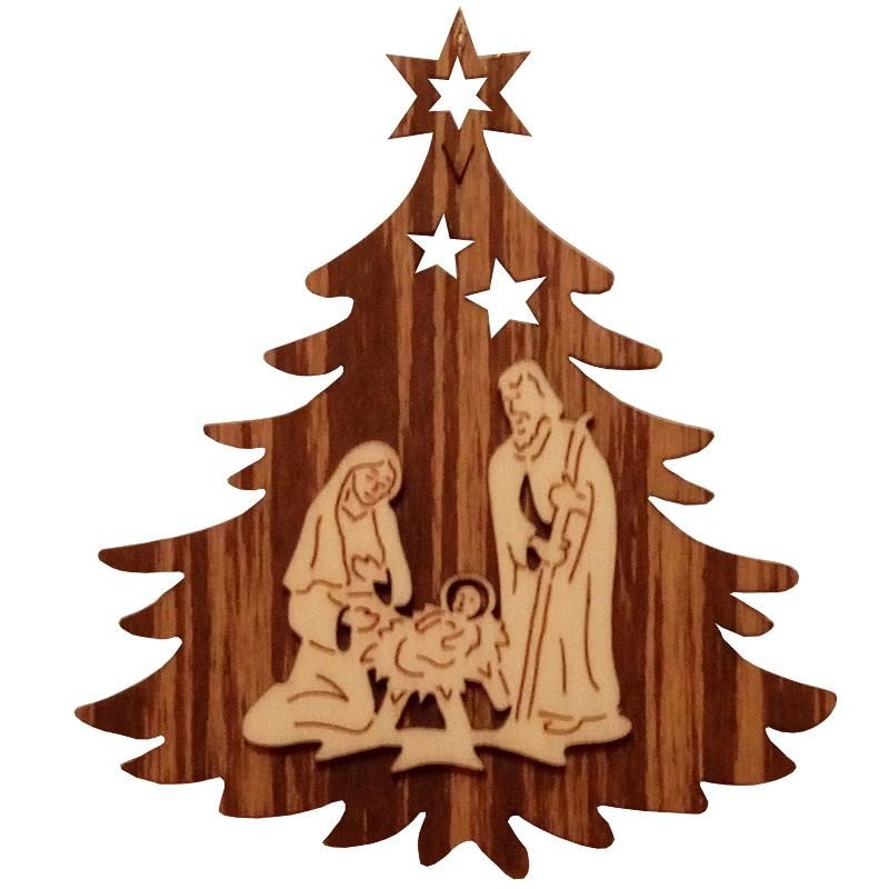 Nr.: 01TANNE Heilige Familie in Weihnachtsbaum - 01TANNE Holzladen24.de