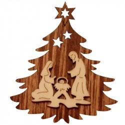 Nr.: 02TANNE Heilige Familie in Weihnachtsbaum - 02TANNE Holzladen24.de