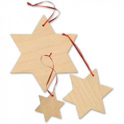 Nr.: 3072 15 Sterne aus Holz - 3072 small foot design